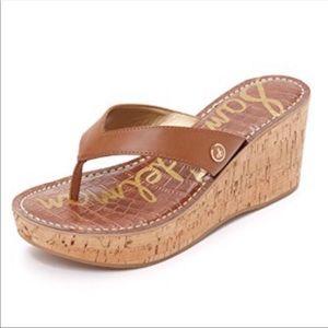 Sam Edelman Brown Romy Wedge Sandal Size 6